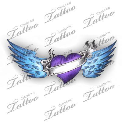 best 10 heart wings tattoo ideas on pinterest memorial