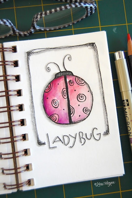 Using your favorite shape to inspire your art journaling! <3 lori vliegen @ elvie studio!