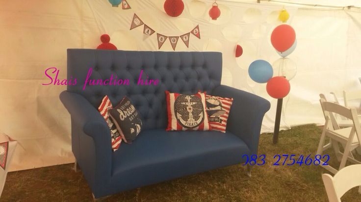 Blue couch to go with the theme #nautical