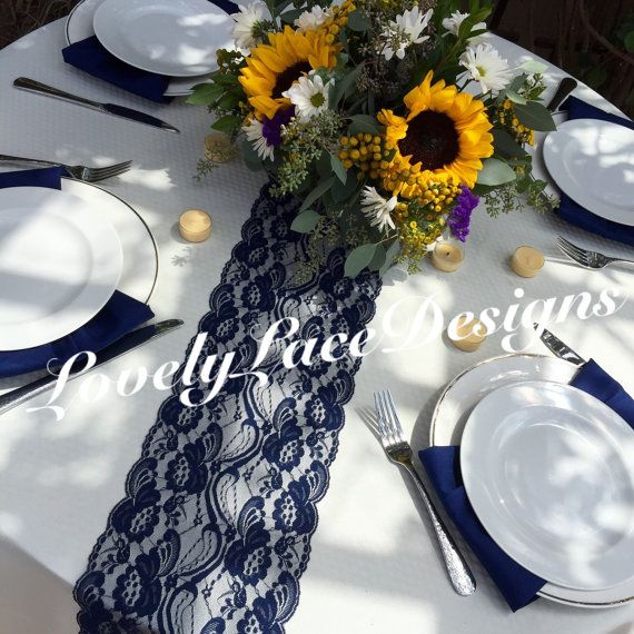 Welcome to LovelyLaceDesigns! ***SALE**** BUY 5-15 Runners, GET 1 FREE, BUY 16-25 Runners,GET 2 FREE BUY 26-35 Runners, GET 3 FREE BUY 36-45 RUNNERS, GET 4 FREE INCLUDED WITH YOUR ORDER NAVY BLUE COLOR *****FOR A ~FREE SAMPLE~ CLICK BELOW https://www.etsy.com/listing/266964346/free-lace-sample-lovelylacedesigns SIZES: 3 FEET LONG TO 10 FEET LONG ENDS NOT FINISHED, JUST CUT STRAIGHT NO LINER WEDDINGS!! ENGAGEMENTS!!OUTDOOR WEDDINGS!! SHOWERS!! CUSTOM MADE ANY LENGTH CHECKOUT ALL THE LACE S...