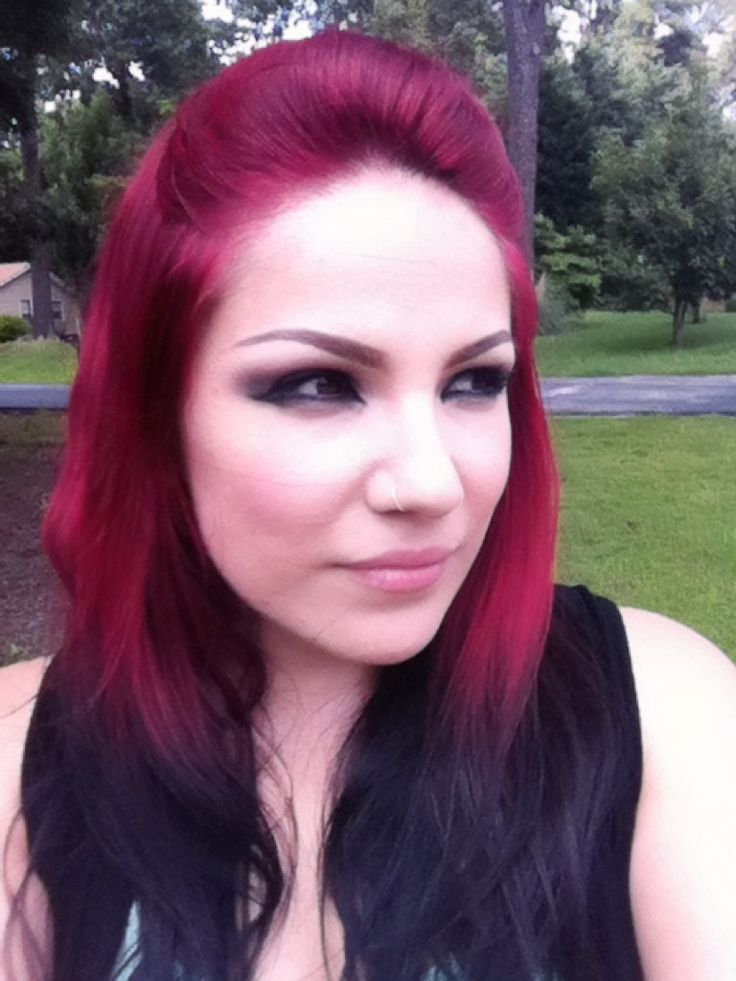 dark red and black hair hair and beauty tips pinterest