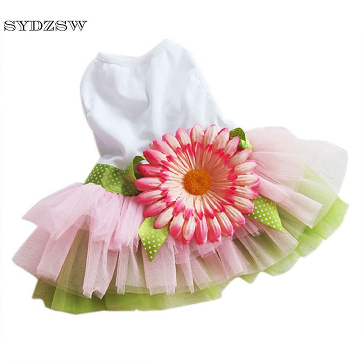 >> Click to Buy << SYDZSW Cheap Dog Clothes Pet Dog Chihuahua Sunflower Dress Summer Puppy Costume for Yorkie Dogs S M L XL XXL Cute Cat Dresses #Affiliate