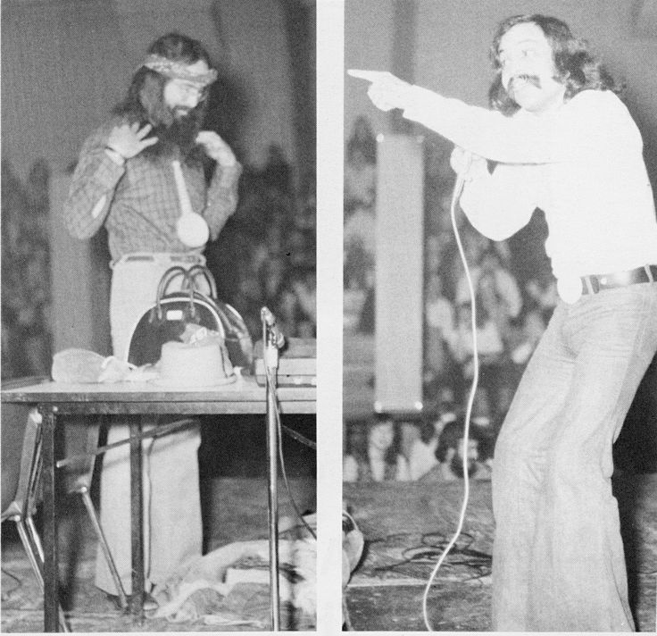 The comedy duo Cheech and Chong performed at the 1983 Winter Weekend at SUNY Broome Community College.