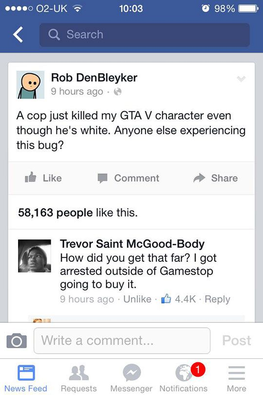 Grand Theft Auto any version is not really my cuppa, but for a joke, this is dang funny!  LOL.