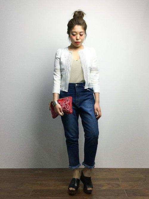 ジャケットっぽいキッチリ感 *春夏ファッション ボレロ *