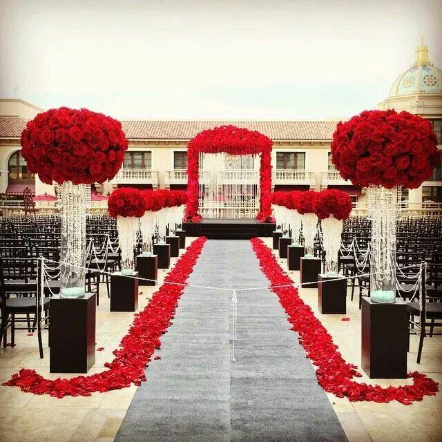 Dark Red Wedding Decorations: 340 Best Wedding Aisle Style Images On Pinterest
