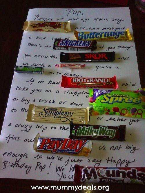 Candy Card Ideas