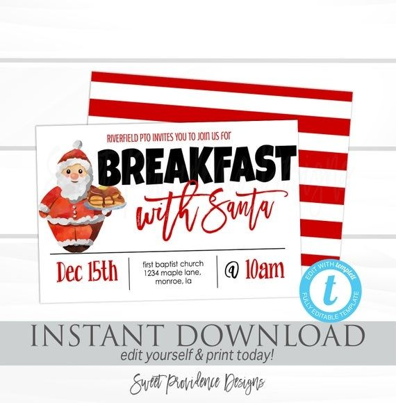 Breakfast With Santa Flyer Templates Free Christmas Flyer Templates Flyer Templates Christmas Flyer Template