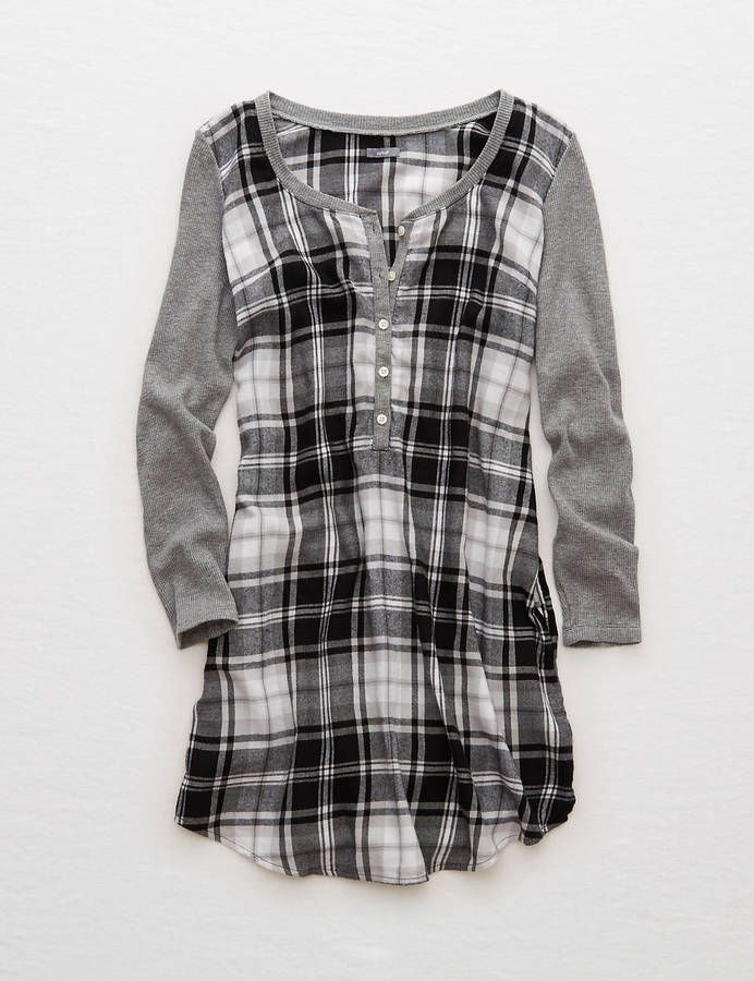 Aerie Flannel Shirt Nightie