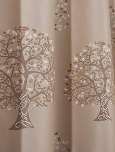 (Two Panels) Country Thickening Trees Blackout Curtain – EUR € 77.36