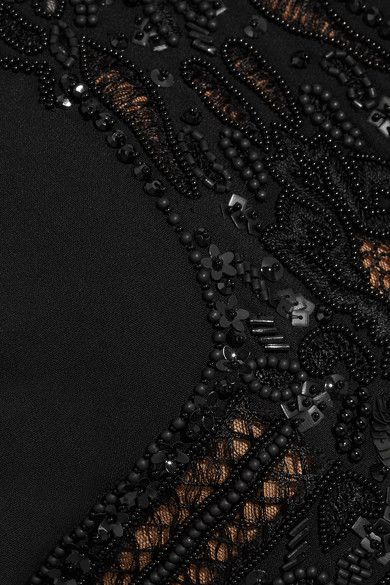 Elie Saab - Embellished Lace-paneled Crepe Jumpsuit - SALE20 at Checkout for an extra 20% off