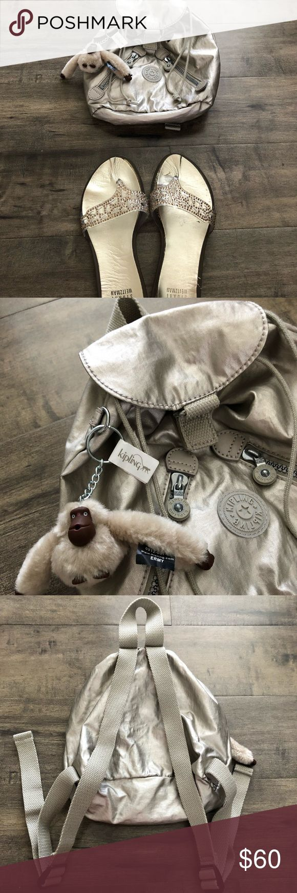 EUC Kipling Metallic Fundamental Backpack mini🐒 NWOT Authentic hard to find Kipling metallic backpack sells on Amazon for $140! Comes with monkey of course 🐵 sweet bag! Don't let this get away👉🏻😊✨Happy Poshing! Kipling Bags Backpacks