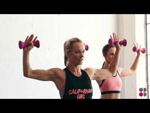 Watch the full length workout from Simone De La Rue - her 40 minute Body By Simone program is a hit weight loss cardio and tone up exercise solution.