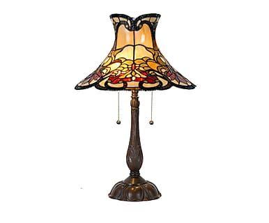 Tafellamp Caroline, metaal/glas, H 66 cm