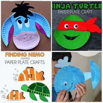 Summer Paper Plate Crafts that