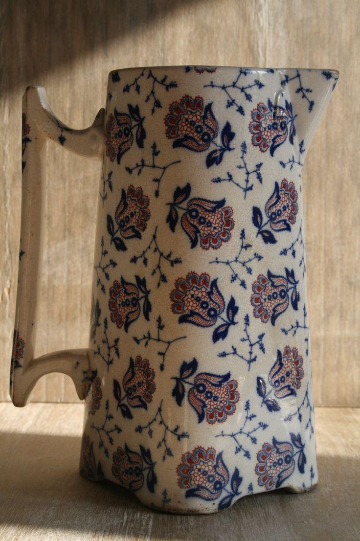 Echt antieke kan van Sarreguemines - www.oseasoudservies.nl