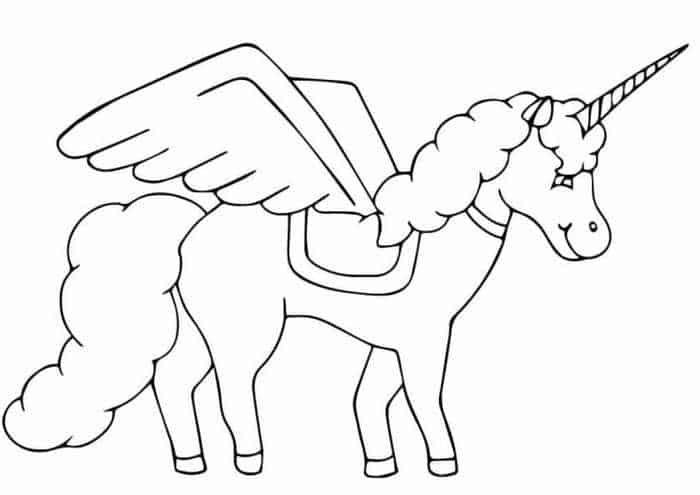 Einhorn Mit Flugeln Malvorlage Unicorn