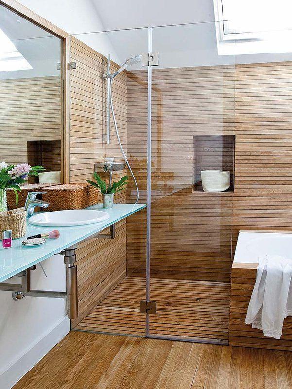 [Decotips] ¿Ducha y bañera en menos de 10 m²?   Decoración