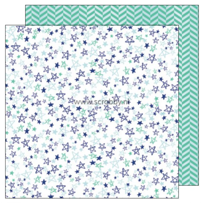 American Crafts Amy Tangerine Better Together double sided cardstock Stars & Stripes