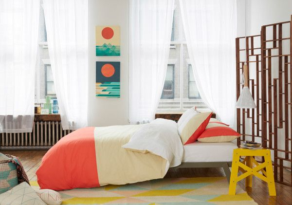 Color Block Duvet Set in Salmon from Fab.com