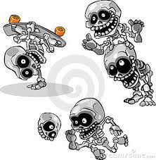 Afbeeldingsresultaat voor halloween tekeningen skelet