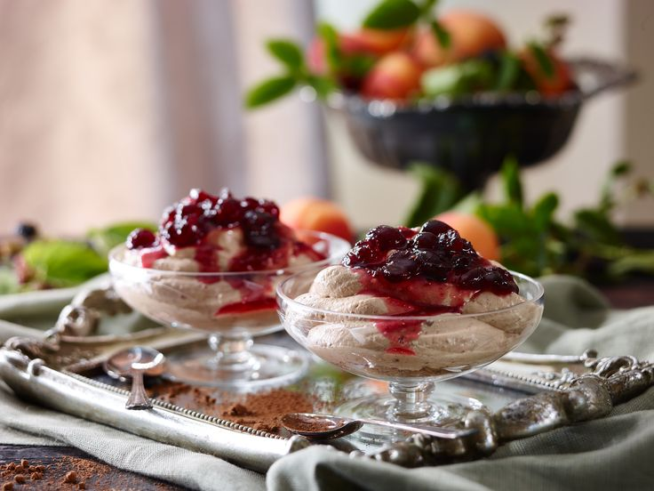 Lancewood's decadent chocolate cheesecake mousse with cranberry sauce will go down well with almost any guest.