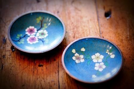 Vintage floral Japanese dishes. Not for actual use, obviously. Just beautiful.
