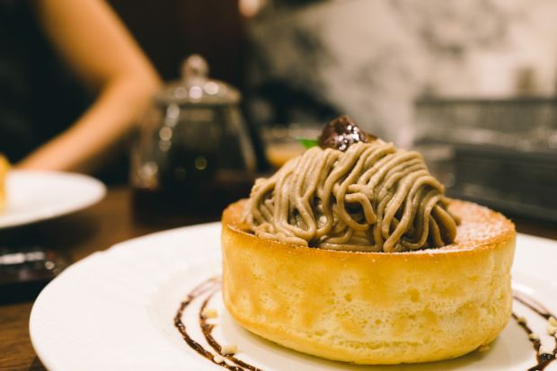Mont Blanc Soufflé Pancake : that-food-cray-kobe-japan-hoshino-coffee-8