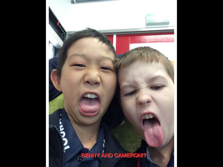 Benny and Cameron the cool kids at school