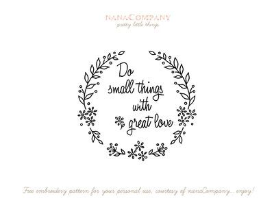 """""""Do small things with great love""""  inspired by Mother Teresa  {free pdf from Amy of Nana Company}"""