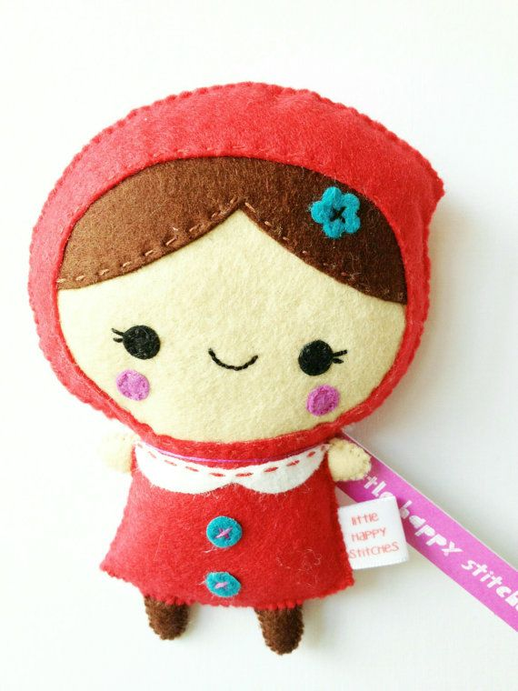 Little Red Riding Hood Plush by littlehappystitches on Etsy, $16.00