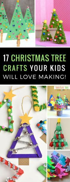 These Christmas tree crafts are totally adorable and the kids loved making them - you should definitely try some this Holiday Season!