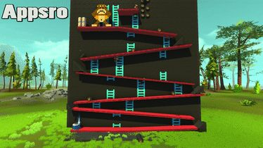 Donkey Kong recreated in Scrap Mechanic