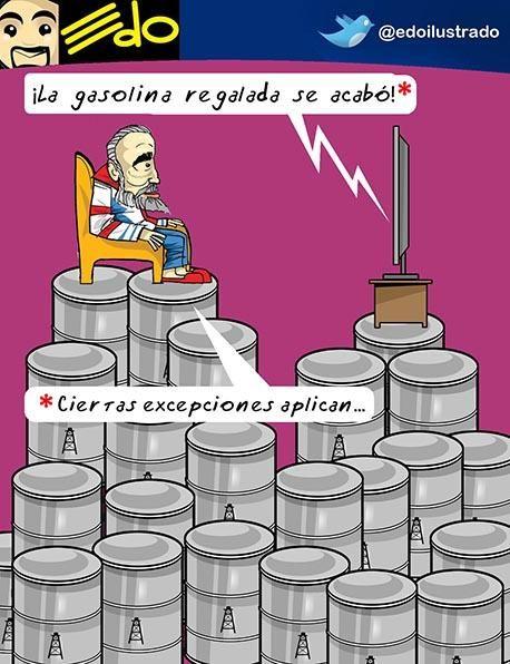 Caricatura EDO: Gasolina barata