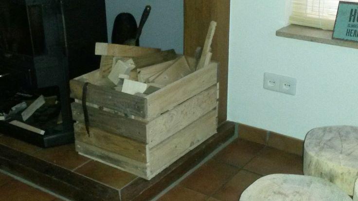 Houten kist van pallet hout
