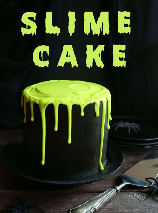 Slimy Awesomeness Inside and Out! Slime Cake on I Am Baker