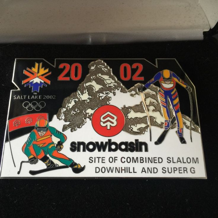 2002 Winter Olympics Large Snowbasin Pin - Downhill and Super G