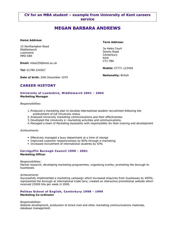 First Resume Sample | Sample Resume And Free Resume Templates