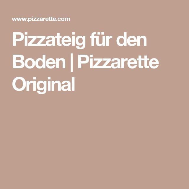 Pizzateig für den Boden   Pizzarette Original