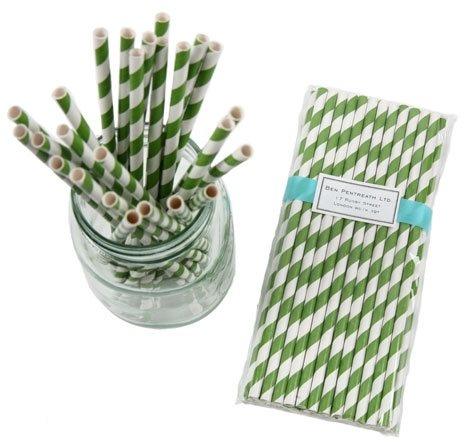 Striped Paper Straws - Emerald Green: Emeralds Cities, Emerald Green, Shops, Emeralds Green, Stripes Paper, Paper Straws, Iador Emeralds, Green Pantone