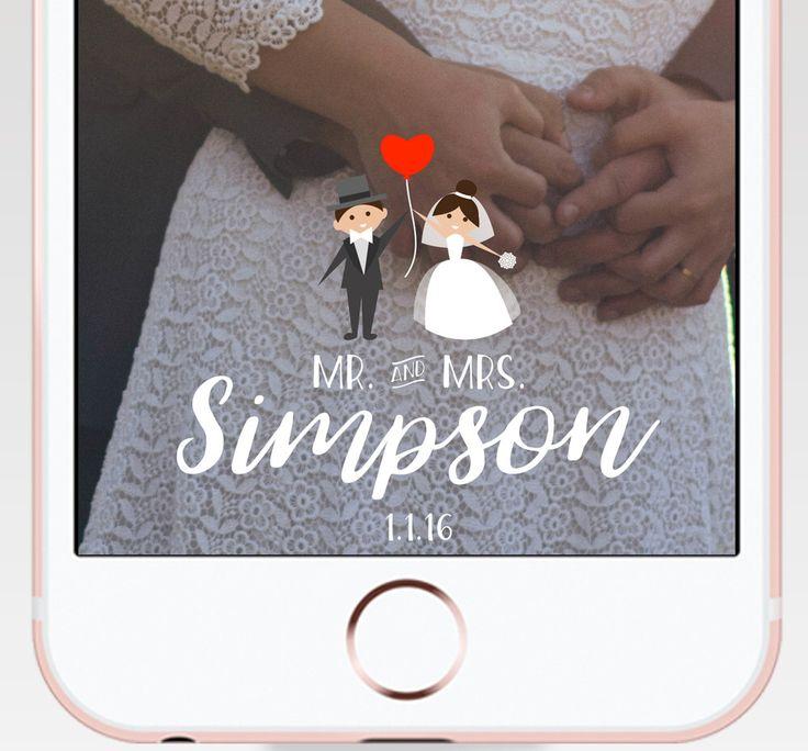 Adorable Wedding Sanpcbat Geofilter | Illustration Snapchat Filter | Custom Snap Filter https://www.etsy.com/fr/listing/480108911/wedding-snapchat-geofilters-on-demand
