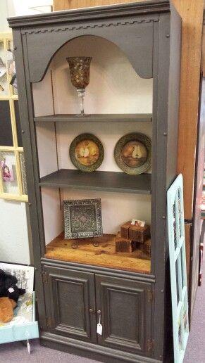 Landmark WoodCrafters refurbished bookcase/China cabinet