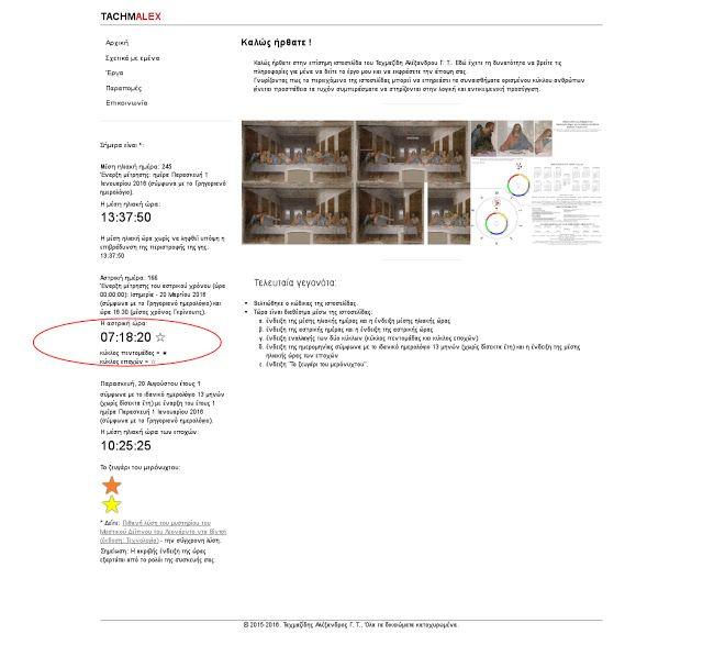 BigDeal+:  http://www.tachmalex.gr Τώρα είναι διαθέσιμο μέσω της ιστοσελίδας η ένδειξη εναλλαγής των δύο κύκλων (κύκλος πεντομάδας και κύκλος εποχών).