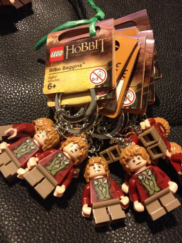 lego key rings x 10 party bag Lord Of The Rings Bilbo Bagins