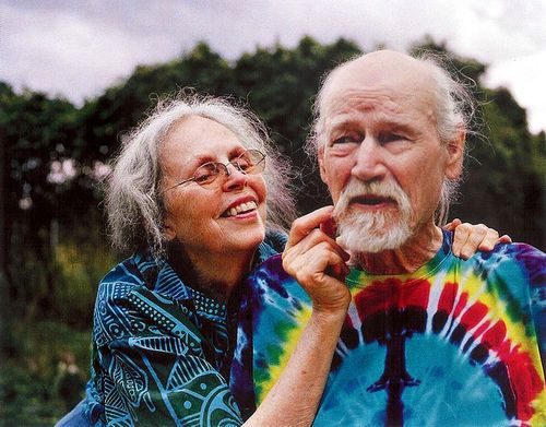 Elder Hippies enduring through the years . . . How incredibly sweet!