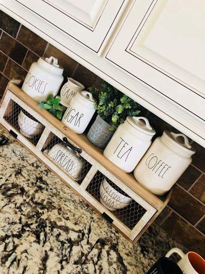 24 Brilliant Ideas To Declutter Your Kitchen Countertop Decor Home Ideas Countertop Decor Kitchen Countertop Decor Kitchen Counter Decor