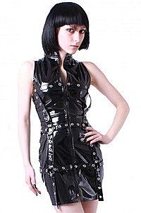 Cage Barb Dress Gothic Lack Kleid
