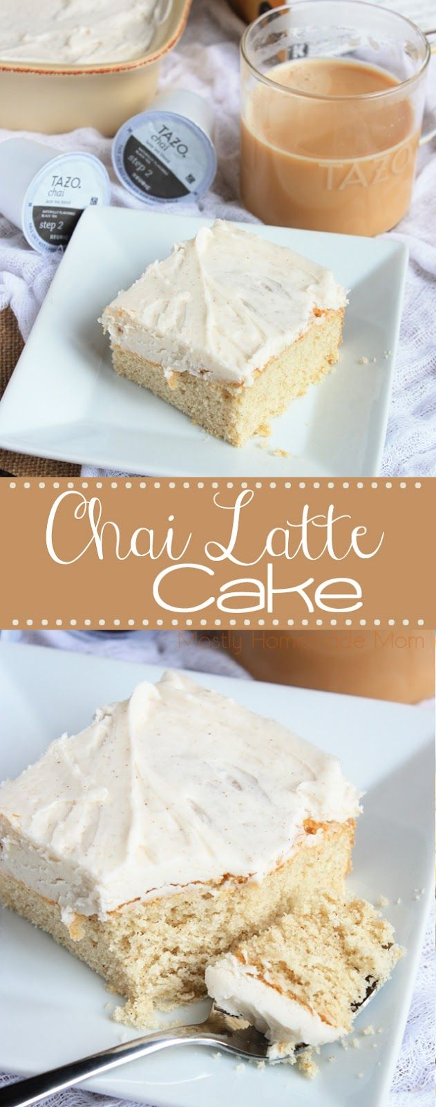 This fun twist on a coffee cake uses cardamom, cinnamon, ginger, and cloves just like a hot cup of chai tea! Top this amazing cake with a cinnamon buttercream frosting, and you have a perfect dessert recipe for brunch, too!