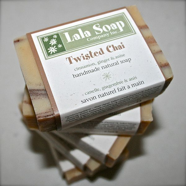 Twisted Chai - delicous aromas of ginger, cinnamon, clove, anise & cardamom  www.lalasoap.com