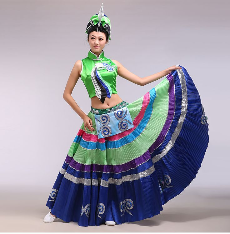 Yi dance costume dance costumes Women Torch performing service calls for shade